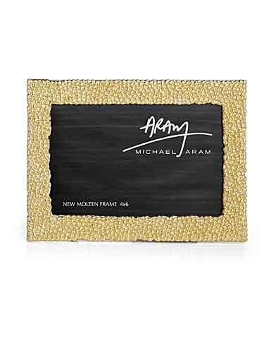 Michael Aram New Molten Gold 4x6 Photo Frame