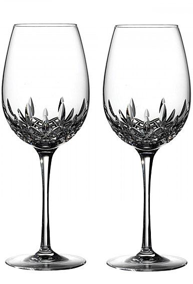 Waterford Crystal, Lismore Essence Red Wine Goblet, Pair
