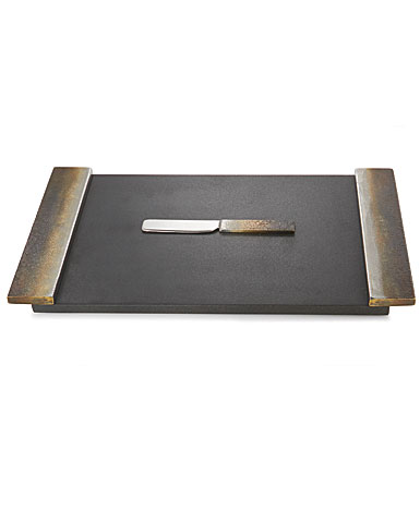 Michael Aram Torched Cheese Board with Knife