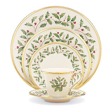 Lenox Holiday China, 5 Piece Place Setting