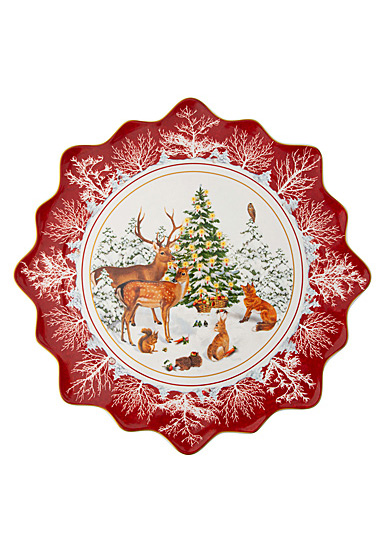 Villeroy and Boch Toy's Fantasy Large Pastry Plate Forest Animals