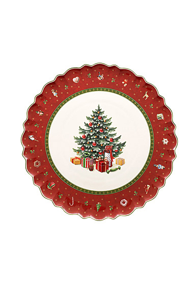Villeroy and Boch Toy's Delight Cake Plate, Christmas Tree