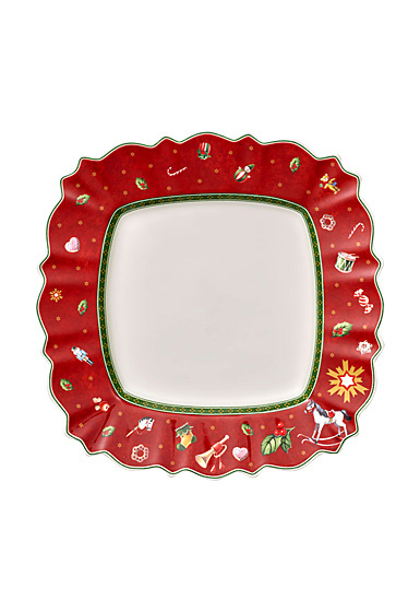 Villeroy and Boch Toy's Delight Square Dinner Plate Red