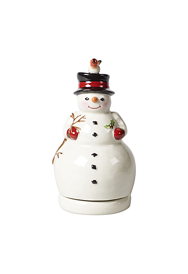 Villeroy and Boch Nostalgic Melody Turning Snowman Music Figurine