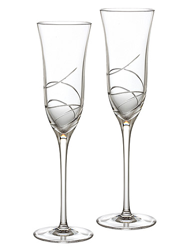 Waterford Ballet Ribbon Essence Champagne Flutes, Pair