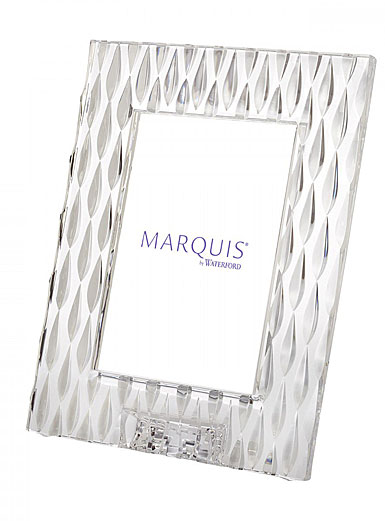 "Marquis by Waterford Crystal, Rainfall 5x7"" Picture Frame, Portrait"