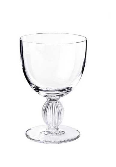 Lalique Crystal, Langeais Crystal Wine Glass No. 3, Single