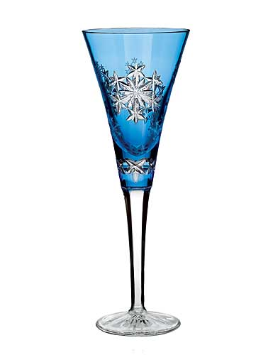 Waterford Snowflake Wishes Goodwill Light Blue Flute, Single