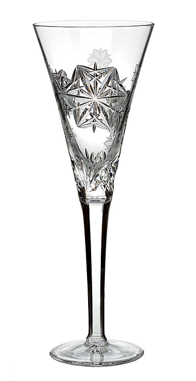 Waterford Snowflake Wishes Peace Clear Flute, Single