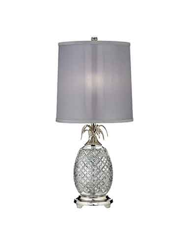 "Waterford Crystal, Hospitality Pineapple Polished Nickel 26"" Table Crystal Lamp"