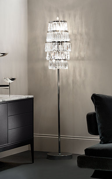 Waterford Crystal, Etoile Nouveau Floor Crystal Lamp