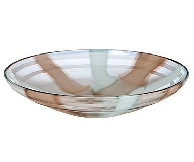 Waterford Evolution Espresso Swirl Centerpiece Platter