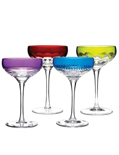 Waterford Mixology Colored Martini, Set of 4