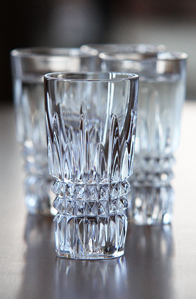 Waterford Crystal, Lismore Diamond Vodka Shot Crystal Glasses, Set of Four