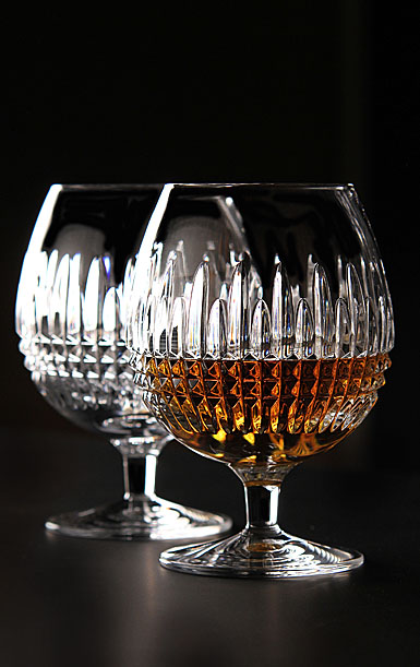 Waterford Crystal, Lismore Diamond Crystal Brandy, Pair