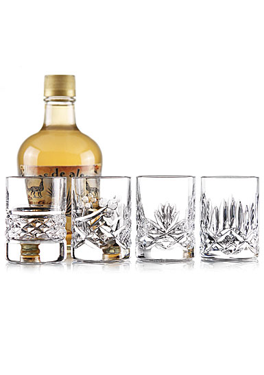 Cashs Ireland, Shot Glass Mixed Set of Four Patterns