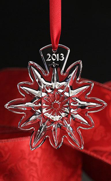 Waterford Lismore Snowflake Ornament 2013
