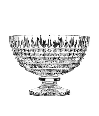 Waterford Crystal, House of Waterford Lismore Diamond Footed Crystal Centerpiece