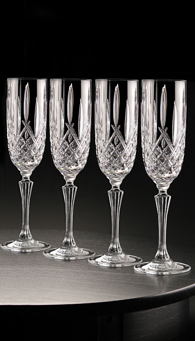Marquis by Waterford Crystal Markham Crystal Flute, Set of Four