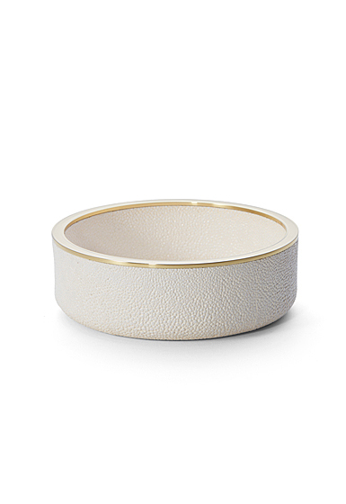Aerin Shagreen Wine Coaster, Cream