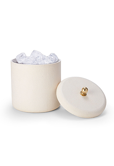 Aerin Shagreen Ice Bucket, Cream