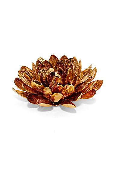 Aerin Gilded Porcelain Dahlia Flower Sculpture