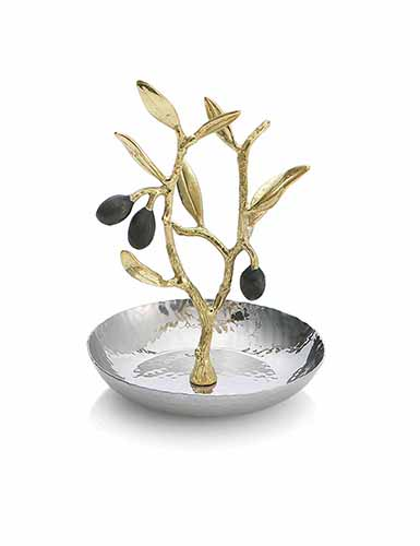 Michael Aram Olive Branch Gold Ring Catch