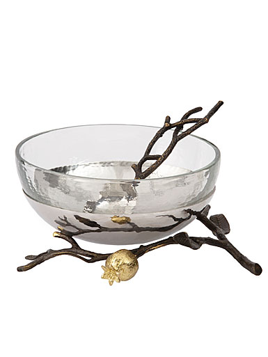 Michael Aram Pomegranate Glass Bowl with Spoon
