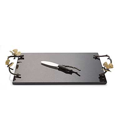 Michael Aram Butterfly Ginkgo Cheeseboard with Knife