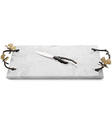 Michael Aram Butterfly Ginkgo Cheeseboard with Knife W