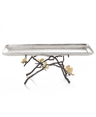 Michael Aram Butterfly Ginkgo Footed Centerpiece Tray