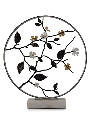 "Michael Aram Dogwood 22"" Moon Gate Sculpture, Limited Edition"