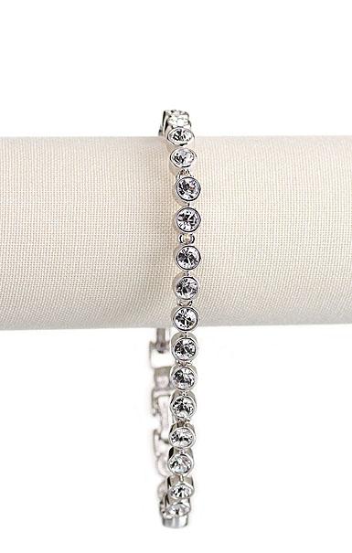 Swarovski Crystal and Rhodium Tennis Bracelet