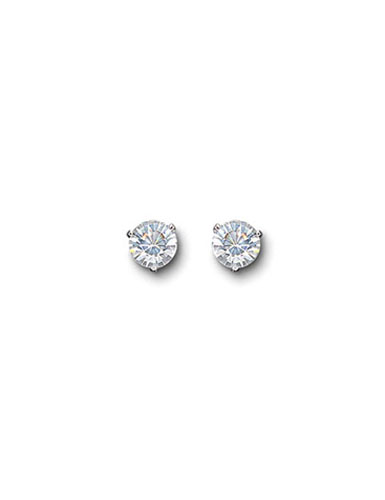 2fce80154 Swarovski Rhodium and Crystal Solitaire Pierced Earrings