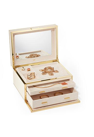 Aerin Luxe Shagreen Jewelry Box, Cream
