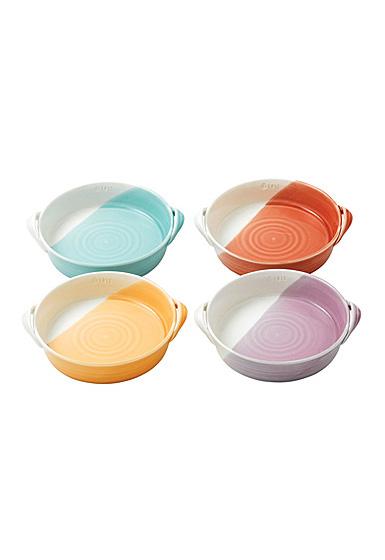 "Royal Doulton 1815 Mixed Patterns Mini Serving Dish 7.2"" Set of 4 Bright Colors"