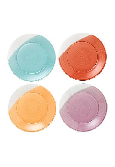 "Royal Doulton 1815 Mixed Patterns Salad Plate 9.4"" Set of 4 Bright Colors"