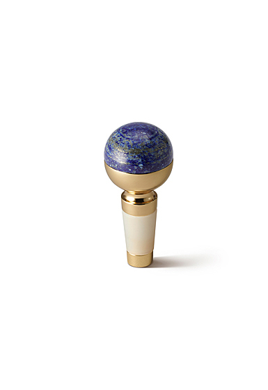 Aerin Sphere Stone Bottle Stopper, Lapis