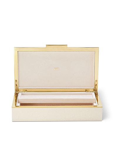 Aerin Shagreen Envelope Box, Cream