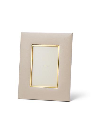 "Aerin Valentina Leather Frame, Pebble 4x6"""