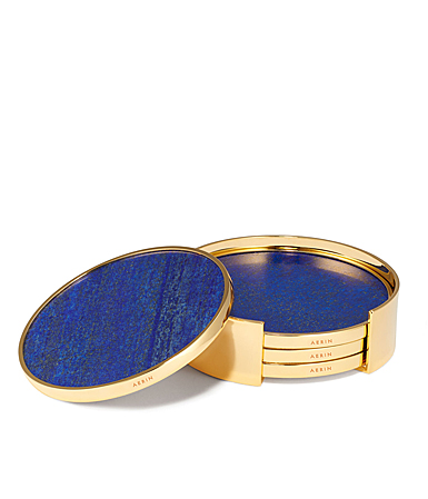 Aerin Lucas Coaster Set Set of Four, Lapis