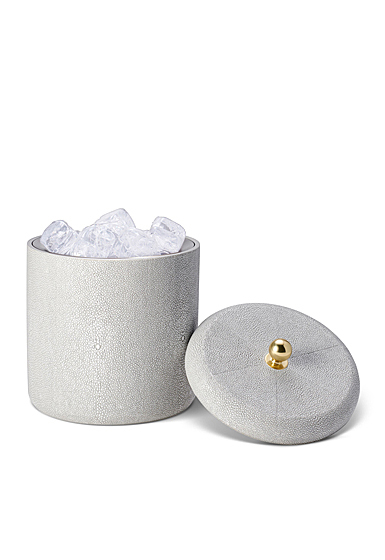 Aerin Shagreen Ice Bucket, Dove