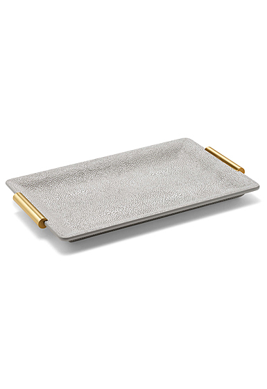 Aerin Shagreen Small Vanity Tray, Dove