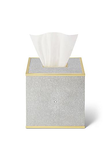Aerin Classic Shagreen Tissue Box Cover, Dove