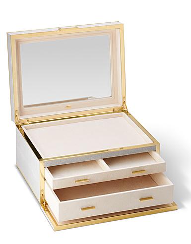 Aerin Luxehagreen Jewelry Box, Dove