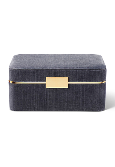 Aerin Beauvais Velvet Jewelry Box, Dusk Blue