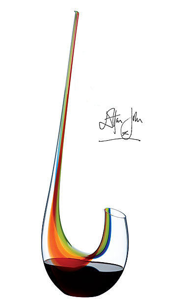 Riedel Elton John Swan Magnum Rainbow Decanter, Final Limited Edition