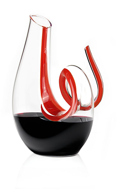 Riedel Fatto a Mano Curly Lisptick Red Wine Decanter, Limited Edition