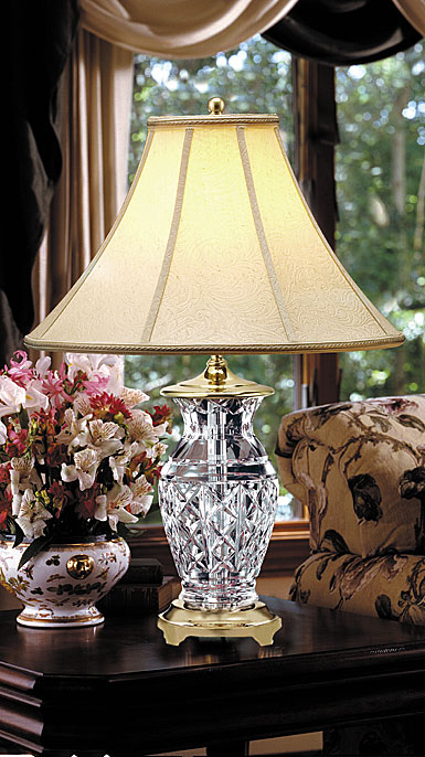 "Waterford Crystal, Kingsley 22"" Crystal Lamp"