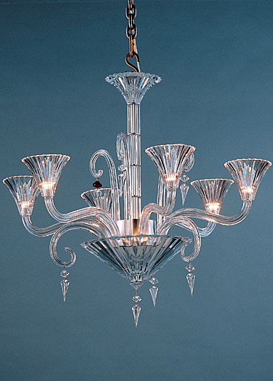 Baccarat Crystal, Mille Nuits 6 Light Crystal Chandelier